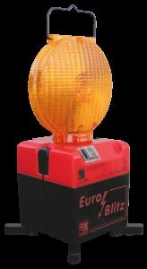 Blitzleuchte -Euro-Blitz- ein- / zweiseitig, Batterie- o. Akkubetr., wahlweise Aufdruck -Feuerwehr- (Modell/Aufdruck:  <b>für 4 Blockbatterien</b><br>mit Sonderaufdruck Feuerwehr (Art.Nr.: 18489))