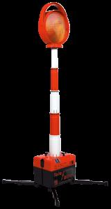 Blitzleuchte -Tele-Blitz- mit Teleskopstange, bis 1 m ausziehbar, Batterie- oder Akkubetrieb (Modell: für 4 Blockbatterien (Art.Nr.: 18492))