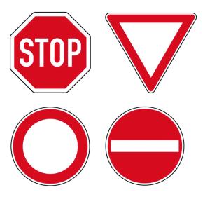 Boden-Sicherheitskennzeichen -Verkehrszeichen Outdoor- aus PVC, R11, selbstklebend