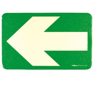Boden- / Wandmarkierungspfeil aus Aluminium, grün-langnachleuchtend, VPE 10 Stk. (Oberfläche/Menge:  <b>mit Anti-Rutsch-Effekt</b> / VPE 10 Stk. (Art.Nr.: 17.7473))
