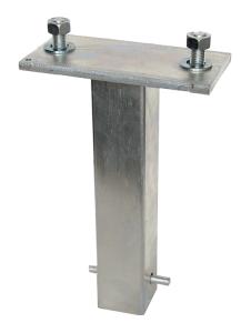 Bodenanker zum Einbetonieren mit 2 Schrauben (Ausführung: Bodenanker zum Einbetonieren mit 2 Schrauben (Art.Nr.: 14306))