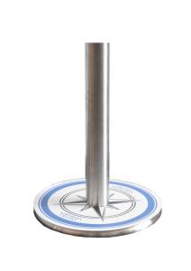 Bodenaufleger für Gurtpfosten, individuell bedruckbar (Ausführung: Bodenaufleger für Gurtpfosten, individuell bedruckbar (Art.Nr.: 40541))