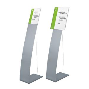 Bodenaufsteller mit Spannseil und Infotafel -Lite Secure- DIN A3 oder DIN A4 (Format Infotafel/Breite:  <b>DIN A4</b>/212mm (Art.Nr.: lt3060))