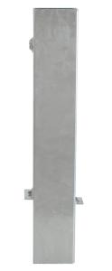Bodenhülse aus Vierkantrohr für Pfosten 70 x 70 mm, mit oder ohne Verschluss (Ausführung/Länge: ohne Verschluss/400 mm (Art.Nr.: 470.15))