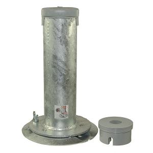 Bodenhülse mit Unterplatte, aus Stahl (Ausführung: Bodenhülse mit Unterplatte, aus Stahl (Art.Nr.: 90.2827))
