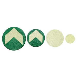 Bodenmarkierung / Ronde aus Aluminium, langnachleuchtend, VPE 10 Stk. (Größe Ø/Farbe/Menge:  <b>Ø 50 mm</b> vollflächig langnachleuchtend<br>VPE 10 Stk. (Art.Nr.: 17.7400))