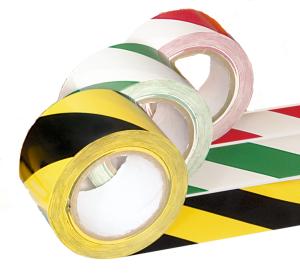 Bodenmarkierungsband -PROline L-, zweifarbig, 75 mm, extra stark (Farbe: rot/weiß (Art.Nr.: 33541))