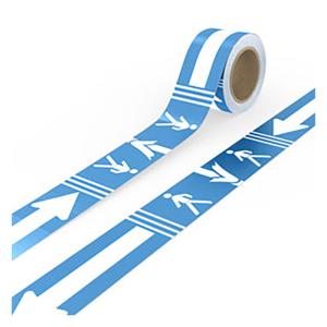 Bodenmarkierungsband -Richtungsweiser Einbahnstraße / Abstand halten-, Breite 80 mm, Länge 25 m (Laufrichtung: linksweisend (Art.Nr.: 31.5578-01))