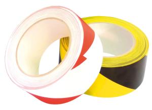 Bodenmarkierungsband -WT-5164- aus PVC, Breite 50 mm, Länge 33 m, mit Schutzlaminat (Farbe: rot-weiß (Art.Nr.: tk7090))