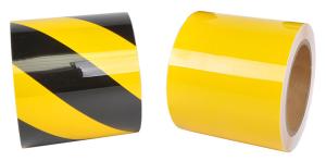 Bodenmarkierungsband -WT-5229-, Breite 100 mm, Länge 15 m, schmutz- und chemikalienresistent (Länge/Farbe: 15m/ <b>gelb</b> (Art.Nr.: 33901))
