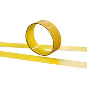 Bodenmarkierungsband -WT-6000- aus Stahl, Breite 100 mm, Länge 1,50 oder 6,00 m (Länge/Farbe: 1,50 m /  <b>gelb</b> (Art.Nr.: 33378))