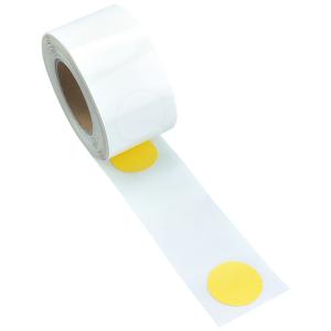 Bodenmarkierungspunkte -WT-5126- aus PVC, Durchmesser Ø 75 mm (Länge/Farbe: 10 m/  <b>gelb</b> (Art.Nr.: 36923))