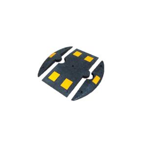 Bodenschwelle, <, 20 km / h, schwarz / gelb, Ø 800 mm, Höhe 50 mm (Ausführung/Breite: Mittelstück/400 mm (Art.Nr.: 3393-55))