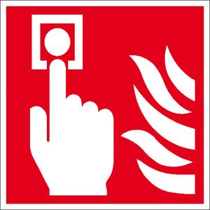 Brandschutzschild, Brandmelder (manuell) (Ma&szlig;e(BxH)/Material: 150 x 150 mm / Folie, selbstklebend,<br>nicht langnachleuchtend (Art.Nr.: 21.a5150))