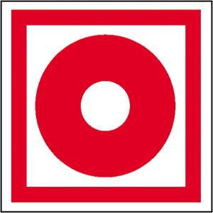 Brandschutzschild, Brandmelder (manuell), langnachleuchtend (Maße(BxH)/Material: 150 x 150 mm / Folie, selbstklebend (Art.Nr.: 38.2731))