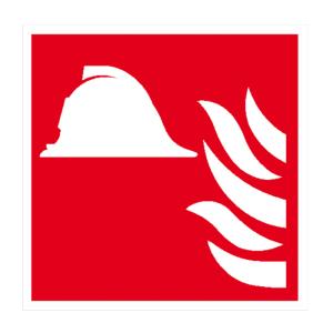Brandschutzschild, Mittel und Geräte zur Brandbekämpfung (Maße(BxH)/Material: 150 x 150 mm / Folie, selbstklebend,<br>langnachleuchtend (Art.Nr.: 38.a5180))