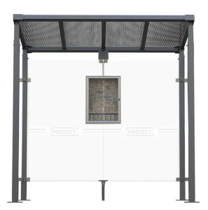 Buswartehalle -Milano-, Breite 2520 oder 5040 mm, mit Fahrplanschaukasten