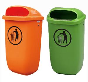 DIN-Papierkorb aus Polyethylen - nach DIN 30713, Volumen 50 Liter