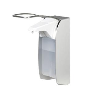 Desinfektionsspender aus Aluminium, zur Wandmontage, mit Behälter und Edelstahlpumpe (Ausführung: Desinfektionsspender aus Aluminium, zur Wandmontage, mit Behälter und Edelstahlpumpe (Art.Nr.: 40361))