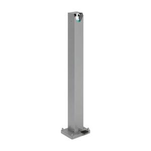 Desinfektionsspender aus Stahl, für 500 und 1000 ml Euroflaschen, mit Fußpedal, versch. Farben (Pulverbeschichtung: weiß (Art.Nr.: 40417))