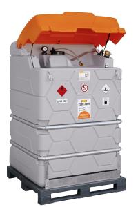 Dieseltankstation -CEMO Cube Tank-Mobil- 1000 oder 1500 Liter mit Fußpalette (Volumen/Gewicht/Maße(LxBxH):  <b>1000 Liter</b>/190kg<br>120x80x195mm (Art.Nr.: 34676))