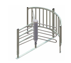Drehkreuz -Turn 10- aus Stahl, Höhe über Flur 1000 bis 1200 mm, Durchlassbreite 700 mm (Modell: verzinkt (ohne Farbe) (Art.Nr.: 35851))