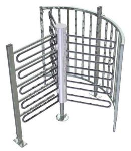 Drehkreuz -Turn 20- aus Stahl, Höhe über Flur 1500 mm, Durchlassbreite 700 mm (Modell: verzinkt (ohne Farbe) (Art.Nr.: 35862))