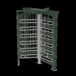 Drehkreuz -Turn 33 / 21- aus Stahl, Höhe über Flur 2148 mm, wahlweise mit Übersteigschutz (Farbe/Gesamthöhe/Modell: feuerverzinkt / 2148 mm<br> <b>ohne Übersteigschutz</b> (Art.Nr.: 40764))