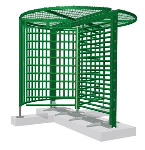 Drehkreuz -Turn 40- aus Stahl, Höhe über Flur 2430 oder 2515 mm, behindertengerecht (Farbe/Höhe/Modell: verzinkt / 2430 mm<br> <b>ohne Übersteigschutz</b> (Art.Nr.: 35804))