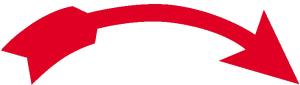 Drehrichtungspfeil gebogen, rot (Maße/Verpackungseinheit/Richtung: 40 x 12 mm / 26er Bogen<br>rechtsweisend (Art.Nr.: 30.6925))