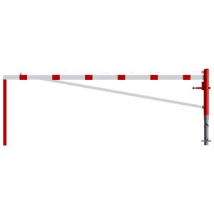 Drehschranke, horizontal schwenkb., mit Verstrebungsrohr und 2 Auflagestützen, Breite 3000-6000mm
