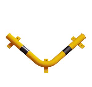 Eck-Rammschutzbalken -Solid- aus Stahl Ø 76 mm, zum Aufdübeln (Ausführung: Eck-Rammschutzbalken -Solid- aus Stahl Ø 76 mm, zum Aufdübeln (Art.Nr.: 477.50bg))