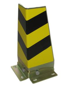 Eckenanfahrschutz -Blade- aus Stahl, Höhe 415 mm, 2-teiliges System, nach BGR 234 (Winkel: mit Innenwinkel (Art.Nr.: 18096))