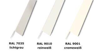 Eckschutzprofil aus Acryl-Vinyl, 3-fach gekantet, Länge 2000 mm, verschiedene Farben