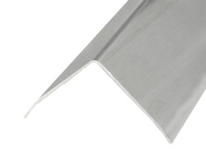 Eckschutzprofil aus Edelstahl, 3-fach gekantet, Oberfläche gebürstet, Länge 1500 bis 3000 mm