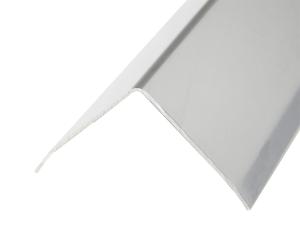 Eckschutzprofil aus Edelstahl, 3-fach gekantet, Oberfläche spiegelblank, Länge 2000 bis 2500 m