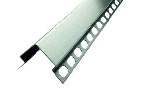 Eckschutzprofil aus Edelstahl, mit Ankerschiene, Oberfläche geschliffen, Länge 1500 bis 3000 mm