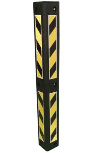 Eckschutzschiene aus PVC, Länge 800 mm, mit reflektierenden Streifen (Ausführung: Eckschutzschiene aus PVC, Länge 800 mm, mit reflektierenden Streifen (Art.Nr.: 36407))