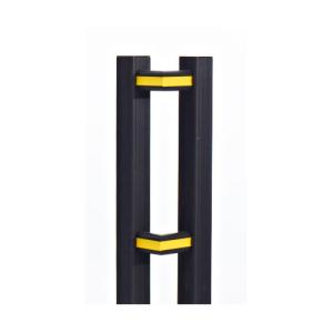 Eckverbinder für Rammschutzgeländer -Bounce-, VPE 2 Stk. (Farbe (oben/unten-Mitte)/Verpackungseinheit:  <b>gelb-schwarz</b> / VPE 2 Stk. (Art.Nr.: 22231))