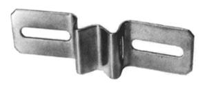 Edelstahl-Bandschelle für Flach-VZ (Langloch : 50-80 mm (Art.Nr.: r-b008))