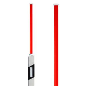 Eingrab-Leitpfosten mit doppelseitigen Reflektoren und ausziehbarem Schneeleitstab, Länge 1,60 m (Sockel: Eingrab-Leitpfosten<br> <b>ohne Sockel</b> (Art.Nr.: 38988))