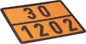 Einstofftafel für Heizöl / Diesel (30 / 1202) gem. GGVS und ADR (Ausführung: Einstofftafel für Heizöl/Diesel (30/1202) gem. GGVS und ADR (Art.Nr.: 64.2300))