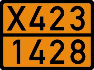 Einstofftafel nach Ihren Angaben, gem. GGVS und ADR, 400 x 300 mm (Ausführung: Einstofftafel nach Ihren Angaben, gem. GGVS und ADR, 400 x 300 mm (Art.Nr.: 64.2303))
