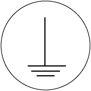 Elektrokennzeichnung / Betriebsmittelkennzeichnung, Erde (Maße Ø /Variante: 10 mm / 104er-Bogen (Art.Nr.: 30.1571))