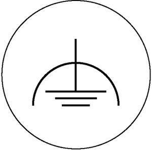 Elektrokennzeichnung / Betriebsmittelkennzeichnung, Fremdspannungsarme Erde (Maße Ø/Variante: 20mm/28er-Bogen (Art.Nr.: 30.1585))