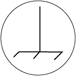 Elektrokennzeichnung / Betriebsmittelkennzeichnung, Funktionspotentialausgleichsleiter (Maße Ø/Variante: 20mm/28er-Bogen (Art.Nr.: 30.1591))