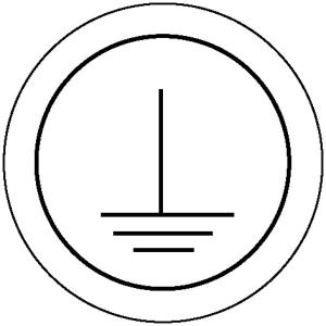 Elektrokennzeichnung / Betriebsmittelkennzeichnung, Schutzleiter (Maße Ø/Variante: 31,5mm/15er-Bogen (Art.Nr.: 30.1581))