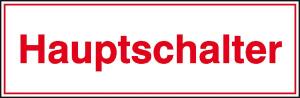 Elektrokennzeichnung / Hinweisschild, Hauptschalter (selbstklebend) (Ausführung: Elektrokennzeichnung/Hinweisschild, Hauptschalter (selbstklebend) (Art.Nr.: 30.0558))