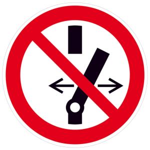 Elektrokennzeichnung / Verbotsschild, Schalten verboten (Maße Ø/Material: 30 mm / Folie, 500er-Rolle (Art.Nr.: 31.a6250))