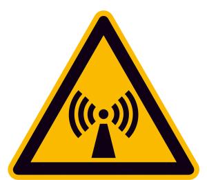 Elektrokennzeichnung / Warnschild, Warnung vor nicht ionisierender Strahlung (Maße (SL) / Material: 50 mm / Folie, 10er-Bogen (Art.Nr.: 30.0355))